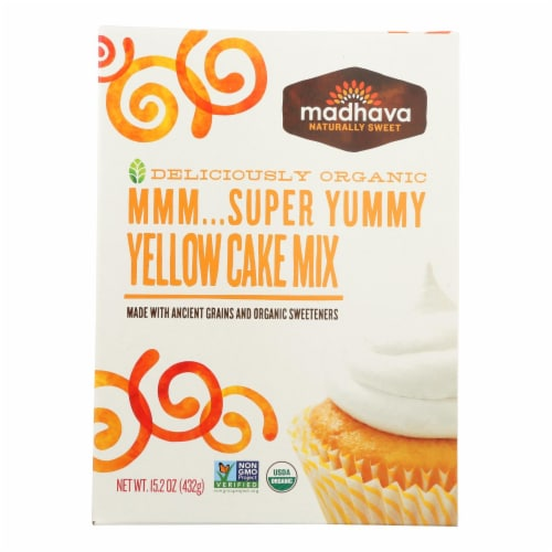 Madhava Super Yummy Yellow Cake Mix Perspective: front