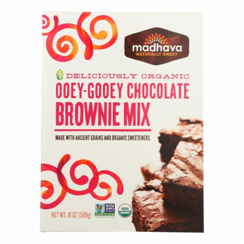 Madhava Ooey-Gooey Chocolate Brownie Mix Perspective: front