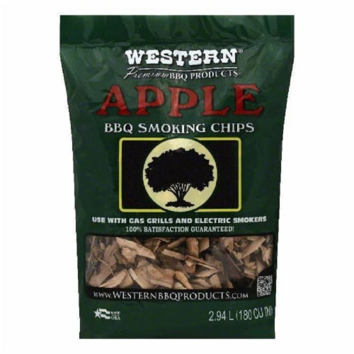 Western Apple BBQ Smoking Chips, 1 bag (Pack of 6) Perspective: front