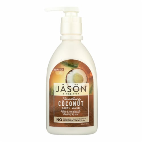 Jason Natural Products Body Wash - Smoothing Coconut - 30 oz Perspective: front