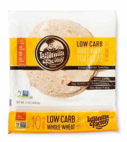 Low Carb Whole Wheat Original Tortillas Perspective: front