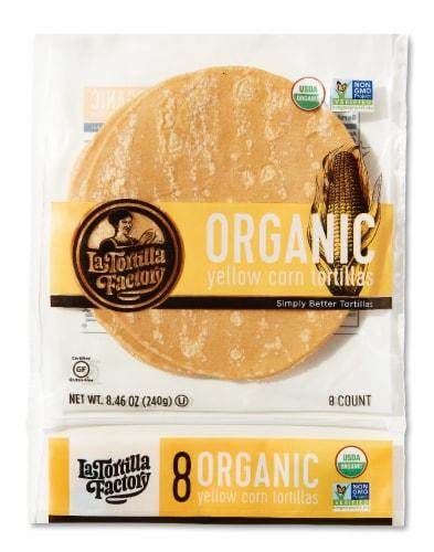 Organic Yellow Corn Tortillas Perspective: front