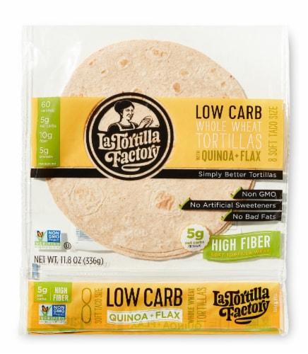 Low Carb Quinoa & Flax Tortillas Perspective: front