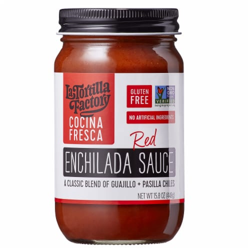 La Tortilla Factory Gluten Free Red Enchilada Sauce, 15.8 oz [Pack of 6] Perspective: front