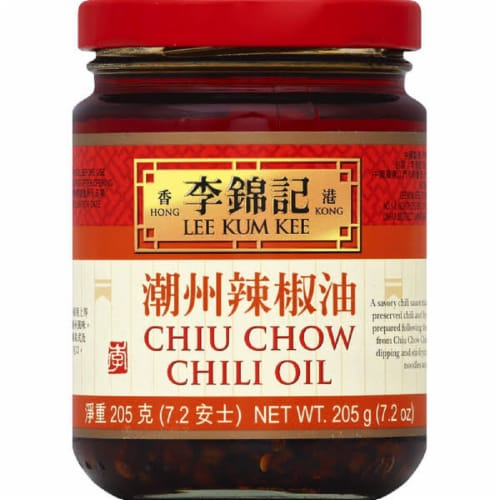 Lee Kum Kee Chiu Chow Chili Oil , 7.2oz (Pack of 6) Perspective: front