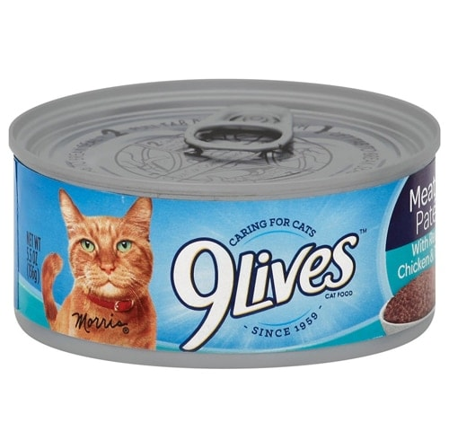 9Lives Chicken and Tuna Meaty Pate Wet Cat Food Perspective: front