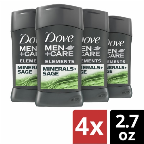 Dove Men + Care Elements Minerals + Sage Antiperspirant Deodorant Perspective: front