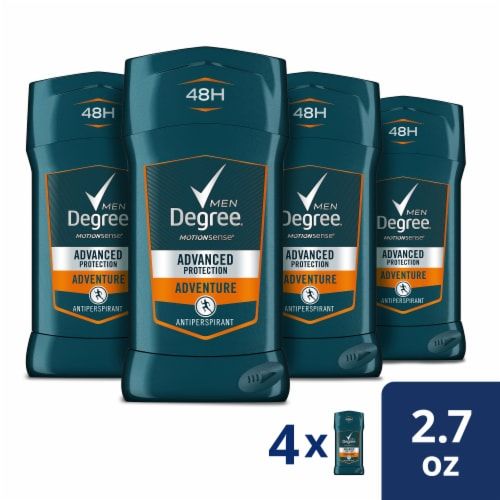 Degree Men Advanced Protection Adventure Antiperspirant/Deodorant (4 Pack) Perspective: front