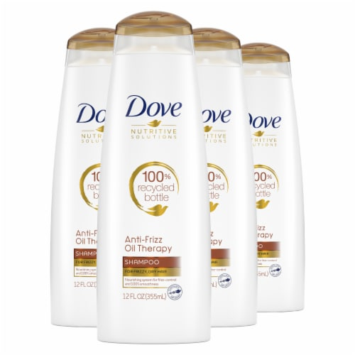 Dove Nutritive Solutions Anti-Frizz Oil Therapy Shampoo & Conditioner Perspective: front