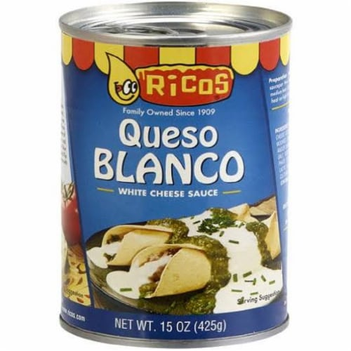 Rico's Queso Blanco Cheese Sauce, 15 oz [Pack of 12] Perspective: front