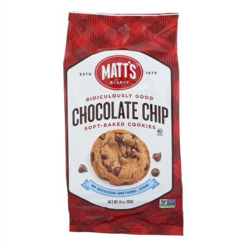 Matt's Bakery Chocolate Chip Soft-Baked Cookies  - Case of 6 - 14 OZ Perspective: front
