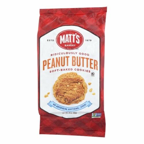 Matt's Bakery Peanut Butter Soft-Baked Cookies  - Case of 6 - 14 OZ Perspective: front