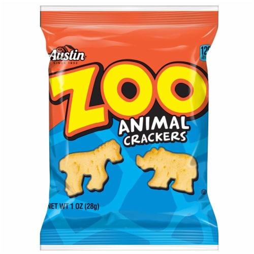 Cracker Keebler Austin Zoo Animal 100 Count 1 Ounce Perspective: front