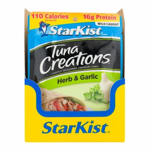 StarKist Tuna Creations Herb & Garlic Lightly Seasoned Premium Tuna Perspective: front