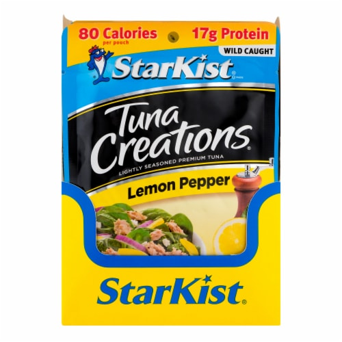 StarKist Tuna Creations Lemon Pepper Tuna Pouches Case Sale Perspective: front