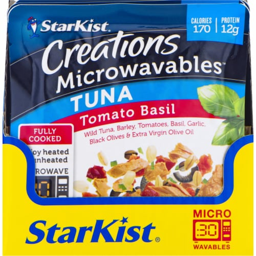 StarKist Creations Microwavables Tomato Basil Tuna Perspective: front
