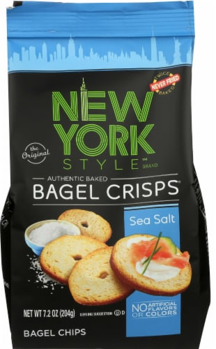 New York Style Sea Salt Bagel Crisps, 7.2 Ounce -- 12 per case. Perspective: front