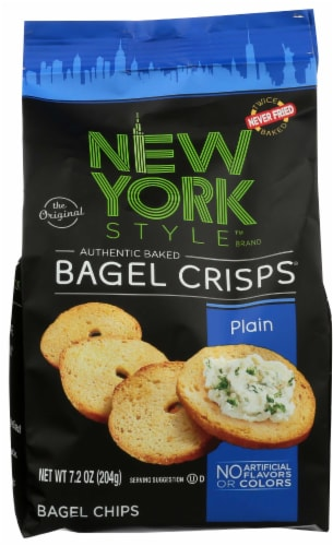 New York Style Plain Bagel Crisps, 7.2 Ounce -- 12 per case. Perspective: front