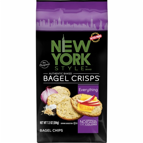 New York Style Everything Bagel Crisps, 7.2 Ounce -- 12 per case. Perspective: front