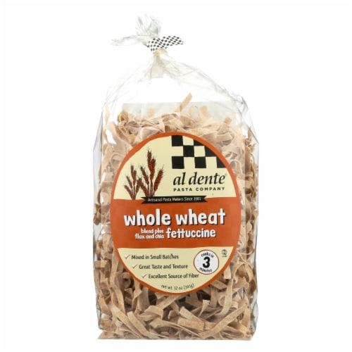 Al Dente - Fettuccine - Whole Wheat - Case of 6 - 12 oz. Perspective: front