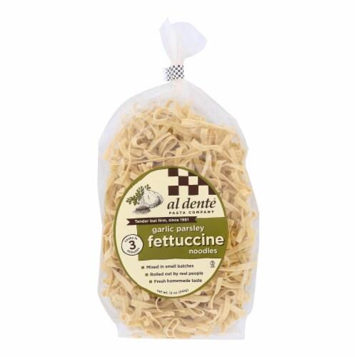 Al Dente - Fettuccine - Garlic Parsley - Case of 6 - 12 oz. Perspective: front