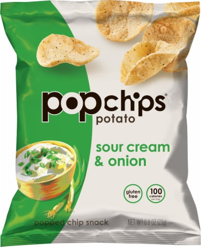 popchips® Gluten Free Sour Cream & Onion Potato Chips Perspective: front