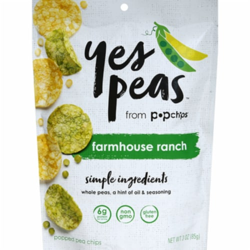 Yes Peas Farmhouse Ranch Popped Pea Chips Perspective: front