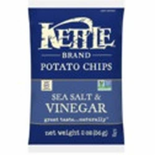 Kettle Sea Salt and Vinegar Potato Chips - 2 oz. bag, 24 per case Perspective: front