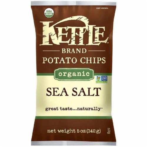 Kettle Brand Organic Sea Salt Potato Chips 5 Oz Bag (Pack of 15) Perspective: front