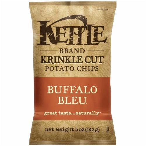Kettle Krinkle Cut Buffalo Bleu Potato Chips - 5 oz. bag, 15 per case Perspective: front