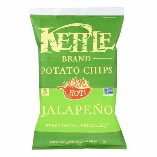 Kettle Brand - Potato Chips Jalapeno - Case of 9 - 13 OZ Perspective: front