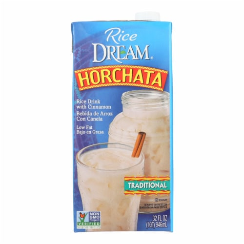 Imagine Foods Rice Dream Traditional Rice Drink - Horchata - Case of 6 - 32 Fl oz. Perspective: front