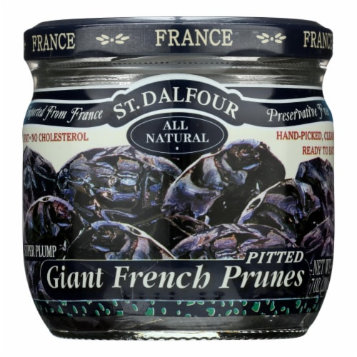 St Dalfour Prunes - French - Giant - Pitted - 7 oz - Case of 6 Perspective: front