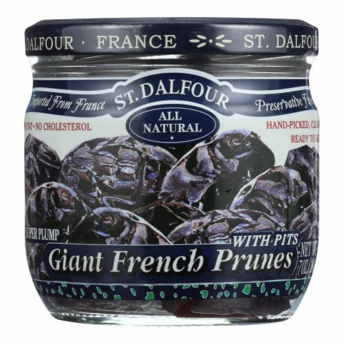 St Dalfour Prunes - French - Giant - With Pits - 7 oz - Case of 6 Perspective: front