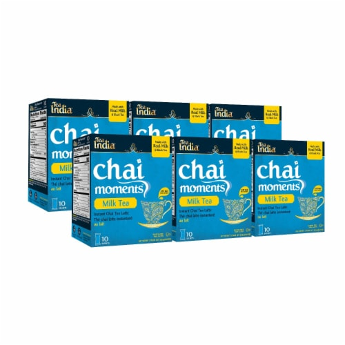 Tea India Chai Moments Milk Tea Instant Chai 10ct - 6 Pack Perspective: front