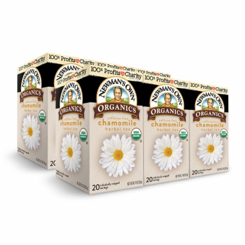 Newman's Own Organics Chamomile Herbal Tea 20ct - 6 Pack Perspective: front