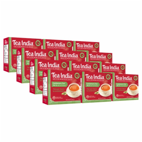Tea India Cardamom Chai 80ct - 12 Pack Perspective: front