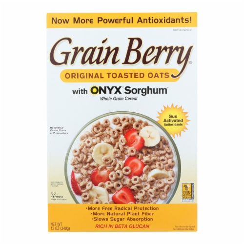 Grain Berry Antioxidants Whole Grain Cereal - Toasted Oats - Case of 6 - 12 oz. Perspective: front