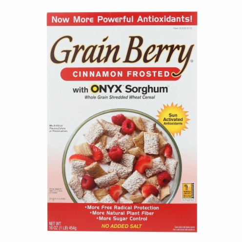 Grain Berry Whole Grain Shredded Wheat Cereal - Case of 6 - 16 OZ Perspective: front