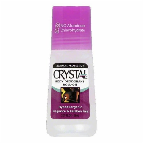 Crystal Body Roll On Deoderant, 2.25 OZ Perspective: front