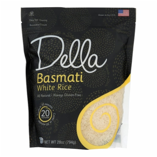 Della - Basmati White Rice - Case of 6 - 28 oz. Perspective: front
