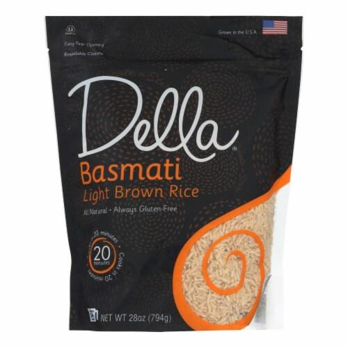 Della - Basmati Light Brown Rice - Case of 6 - 28 oz. Perspective: front