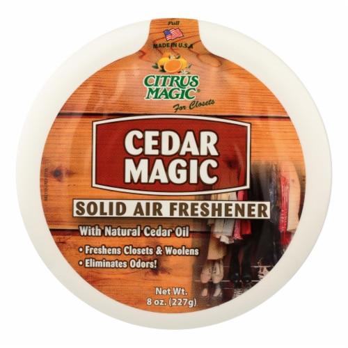 Citrus Magic Cedar Magic Solid Air Freshener - Case of 6 - 8 oz Perspective: front