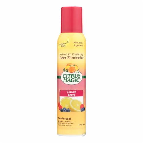 Citrus Magic Natural Odor Eliminating Air Freshener - Lemon Raspberry - 3.5 fl oz - Case of 6 Perspective: front