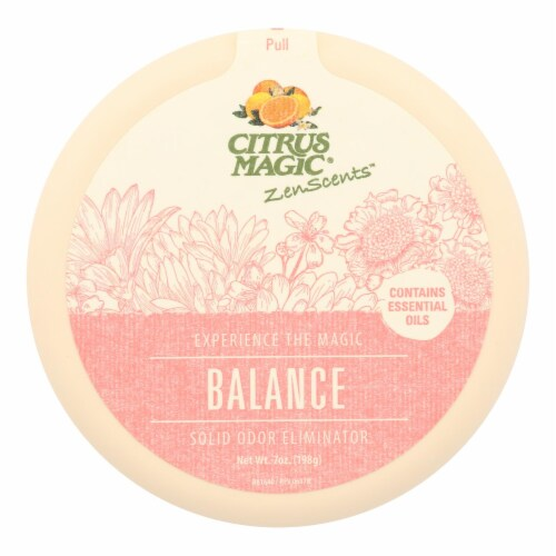 Citrus Magic - Zenscent Odr Absrb Balanc - Case of 6 - 7 OZ Perspective: front