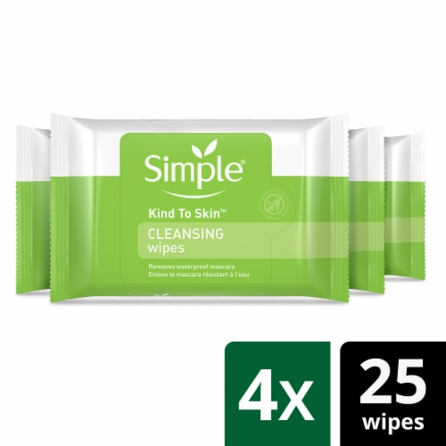 Simple Kind to Skin Cleansing Wipes Perspective: front