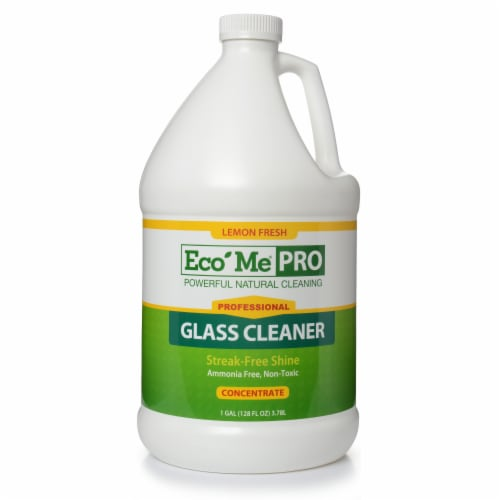 Eco-Me Pro 4pk. 1 Gallon Glass Cleaner Lemon Scent Perspective: front