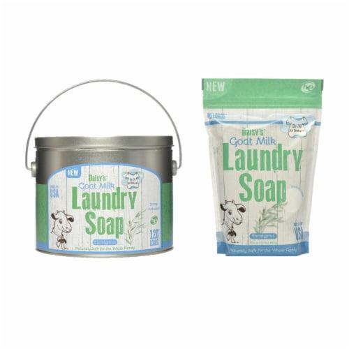 Brook&Nora 18oz. Laundry Detergent Natural Powder Eucalyptus 120loads +45 Loads Perspective: front