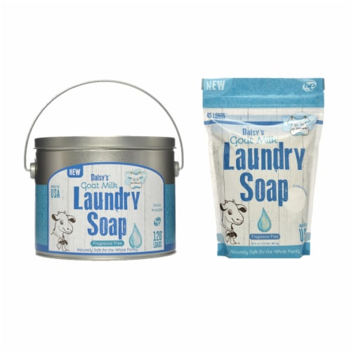 Brook&Nora 18oz. Laundry Detergent Natural Powder Fragrance Free 120loads +45 Loads Perspective: front