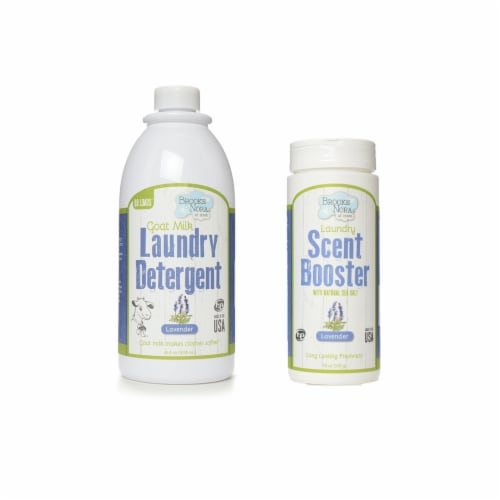 B&N 35fl.oz. (68loads) Natural Liquid Laundry Detergent Lavender + 18oz. Scent Booster Perspective: front